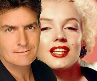 Create a montage of Charlie Sheen to appear in a photo with the actor on it.