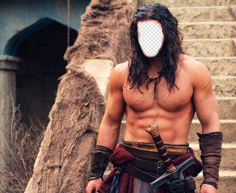 La tua faccia sul corpo di Jason Momoa in Conan il Barbaro.