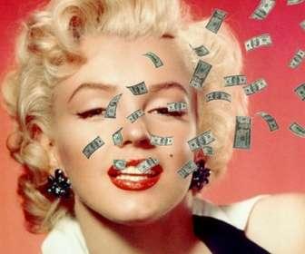 Ejemplo: Fotomontaje con dinero volando sobre tu foto en el que podrás subir la imagen y personalizarlo con una frase con la tipografía y color que más te guste.