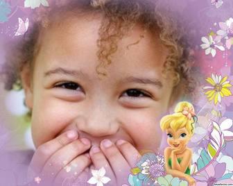 Telaio in linea con Tinkerbell perfetto per i bambini foto