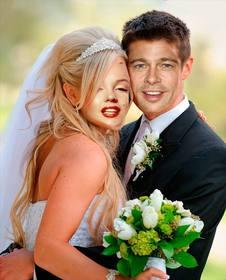 fotomontaje marido mujer recien casados boda