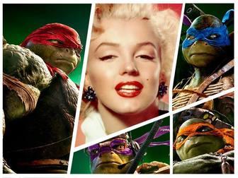 Fotomontagem com as novas tartarugas ninja