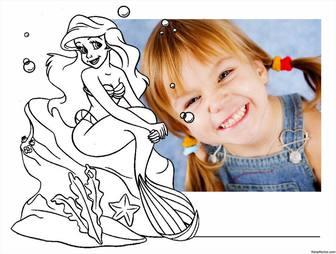 Färbung der kleinen Meerjungfrau, wo Sie können auch Ihr Foto