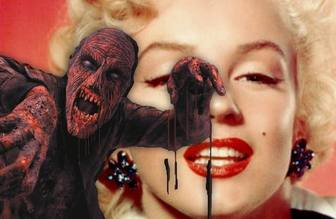 Ejemplo: Photomontage to put a red bloody zombie in a photo and add text online.