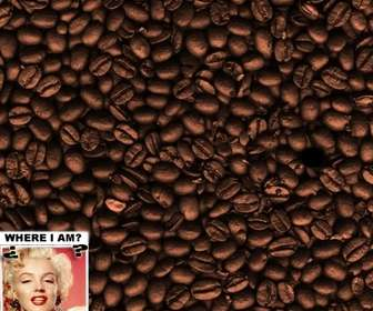 Ejemplo: Game: find the face in the coffee beans. Add a photo to hide it.