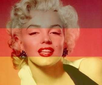 Schöpfer des Online-Fotomontagen von Ihr Foto neben der Flagge der Bundesrepublik Deutschland.