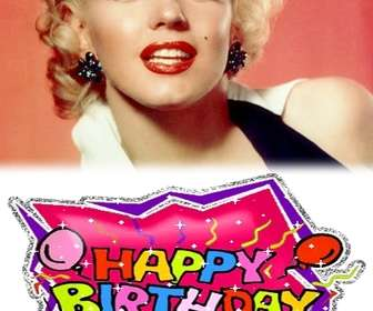 Create your own personalized birthday card with a picture! Use it to wish a happy birthday card or as a reminder.