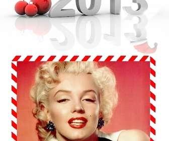 Ejemplo: Postal para felicitar las navidades y el nuevo año 2013. Para hacer online y poner tu foto.
