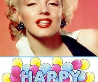 Ejemplo: Felicitación de cumpleaños personalizada con foto, con un texto animado *Happy Birthday*
