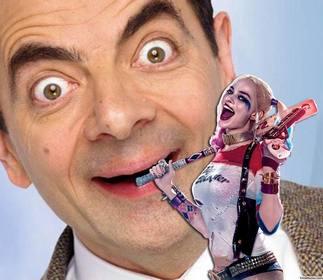 Fotomontaggio di mettere la tua foto accanto al cattivo Harley Quinn