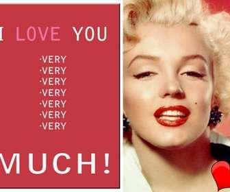 Amor cartão customizável com sua própria foto com o texto EU TE AMO MUITO!