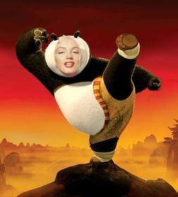 Ejemplo: In this photomontage will appear as the child star of the movie Kung Fu Panda. Put your face in that character.