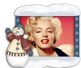 encadrer vos photos avec bonhomme de neige de no l vous pouvez le faire photoeffets. Black Bedroom Furniture Sets. Home Design Ideas