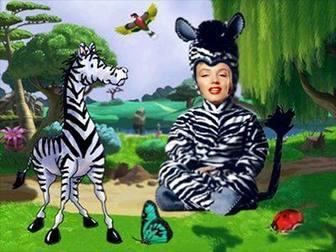 Ejemplo: Efecto para fotos para poner foto en disfraz de cebra para niños.