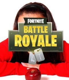 Logotipo del juego Fortnite para poner en tu foto
