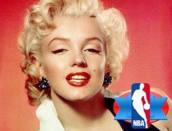 Basketball sticker with the NBA logo.