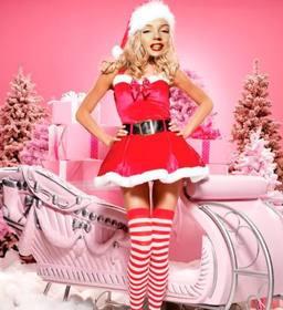 Ejemplo: Fotomontaje de Mama Noel para hacer online. Ideal para felicitación de Navidad.