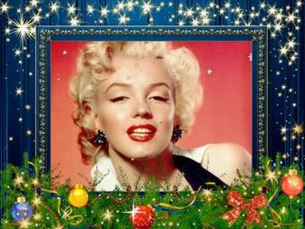 Bleu cadre pour les photos de décoration de Noël.