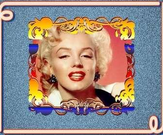 Couleurs néon cadre photo pour mettre votre photo, vous pouvez le faire en ligne vintage frame