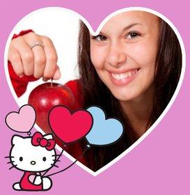 Rahmen in Herzform für Ihr Foto mit Hallo Kitty