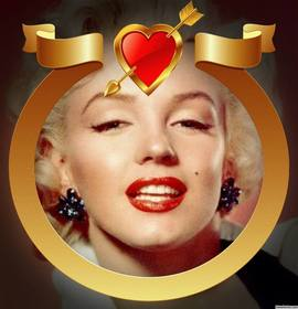 Golden frame avec le coeur et la flèche pour ajouter votre photo à lintérieur