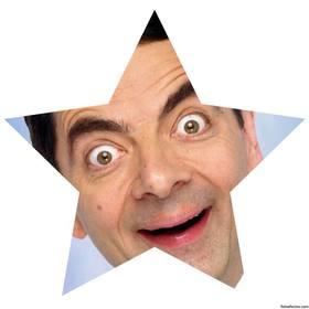 Estrela branca em forma de moldura para colocar suas fotos no perfil.