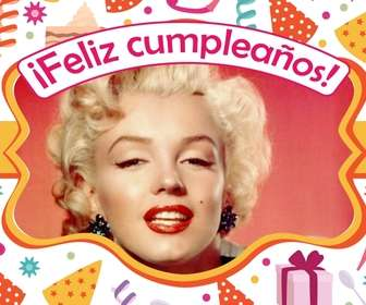 Ejemplo: Postcard to congratulate a birthday with your favorite photo.