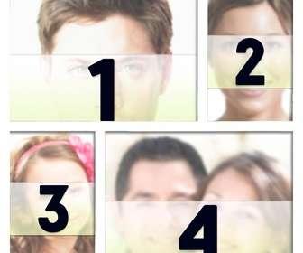 marco fotos blanco colocar cuatro fotografias