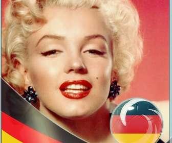 Fotorahmen mit der Flagge von Deutschland nach in Ihren Fotos setzen.