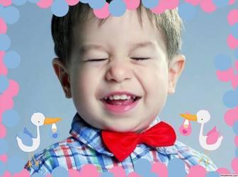 Dekorative Bilderrahmen speziell für Baby Mädchen und Jungen Foto