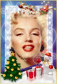 Modèle de Noël gratuit à personnaliser avec votre photo en ligne.