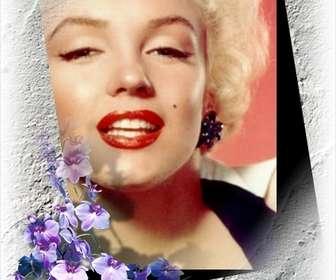 Ejemplo: Marco para una foto con borde de flores que podrás hacer online y gratis.