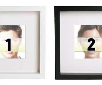 Crea collage online con 2 marcos de fotos en blanco y negro cuadrados para poner tus imágenes y añadirles un texto.