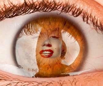 Ejemplo: Fotomontaje para poner una foto como si estuvieras dentro de un ojo.