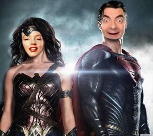 Metti la tua faccia su Wonder Woman e Superman con questo effetto divertente