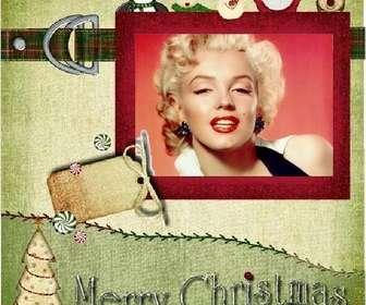 Ejemplo: Cartão de Natal para fazer com o seu antigo estilo de foto.