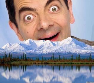 Fügen Sie Ihr Foto auf einem schneebedeckten Berg mit dieser ursprünglichen Fotomontage