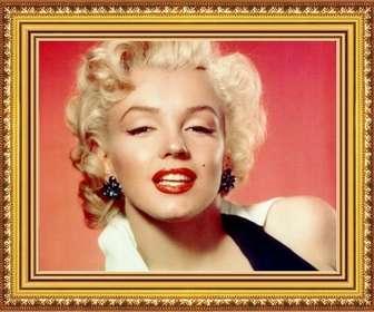 Foto moldura de madeira amarelo e ouro realista para personalizar e decorar suas fotos.