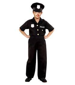 Erstellen Sie diese Fotomontage eines Kindes als Polizei gekleidet