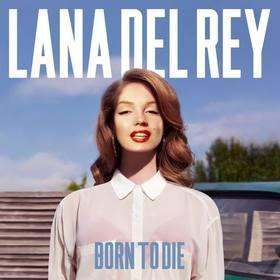 Fotomontagem com a capa do álbum Born to Die da cantora Lana del Rey.