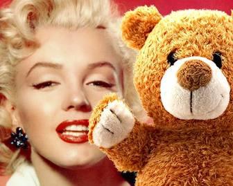 Fotomontage für Kinder mit einem Teddybären zu Ihren Fotos hinzufügen.