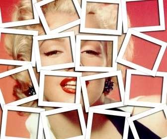 In die Collage-Effekt mit Polaroid-Rahmen, um Ihre Fotos.