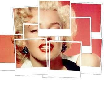 Ejemplo: Mosaico con fotos polaroid y fondo blanco, efecto de mosaico con varias fotos.