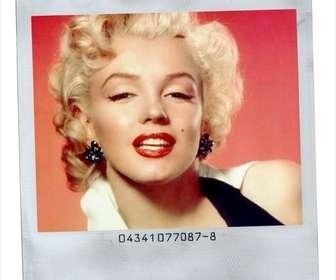 Ejemplo: Polaroid moldura estilo com fundo branco.
