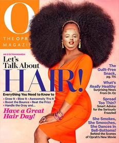 Photomontage to be Oprah Winfrey on the cover of a magazine