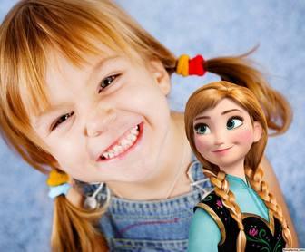 Prinzessin Anna von Gefrorenes in Ihren Fotos mit diesem kostenlosen Effekt