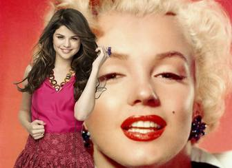 Mount pictures to post a photo along the famous actress and singer Selena Gomez.