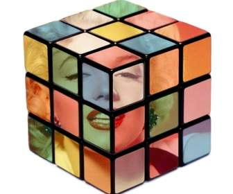 Ejemplo: effect for photos rubik cube to put your photo inside a Rubik