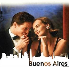 Fotomontage mit der Silhouette der Stadt Buenos Aires Ihr Foto setzen