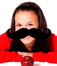 Sticker to put on your photo of a Hispter mustache.